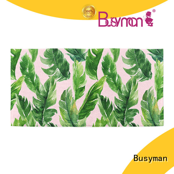 Busyman microfiber beach towel suitable for traveling