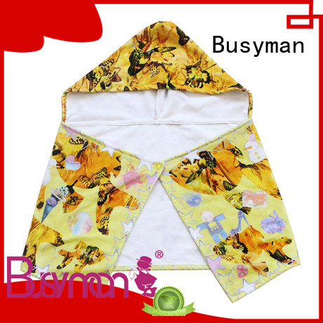 Busyman cute cotton hooded towel excellent for gift