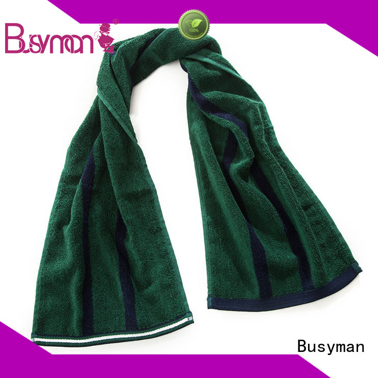 Busyman natural custom gym towel best for fitness club