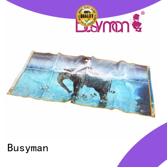 Busyman comfortable custom printed towels kids use