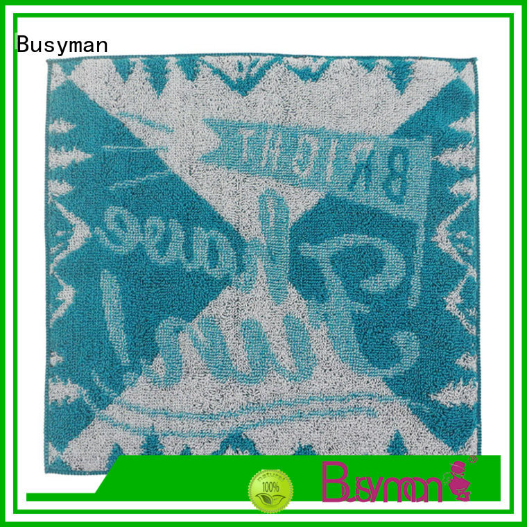 Busyman strong water absorbing capacity jacquard towels excellent for home use