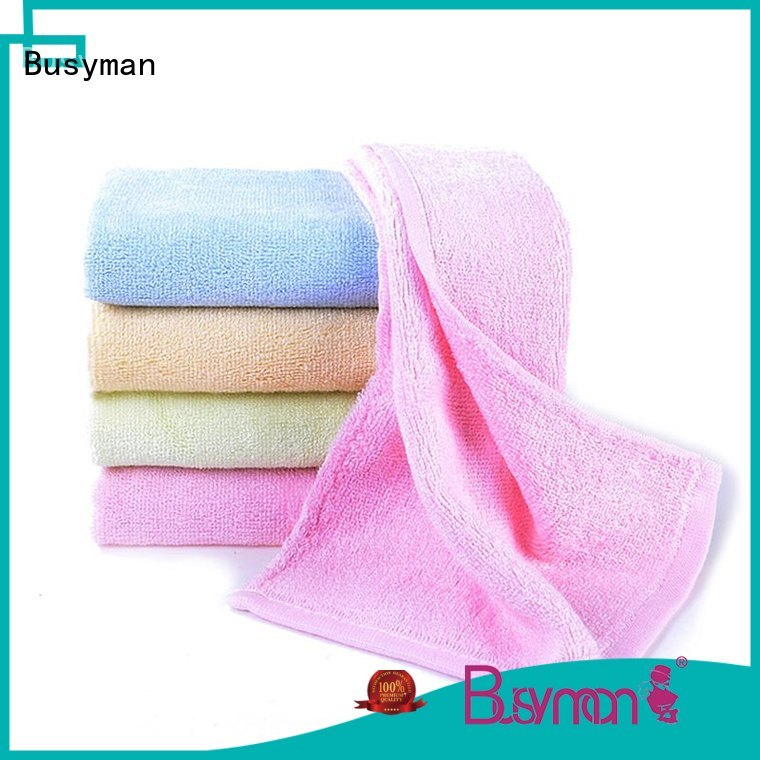 Busyman plain hand towel widely used for sports
