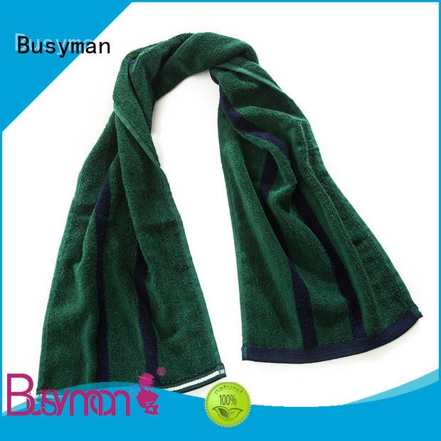 Busyman skin friendly custom gym towel widely applied for campaign