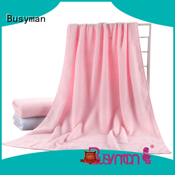 Busyman soft hand feeling plain towel widely applied for