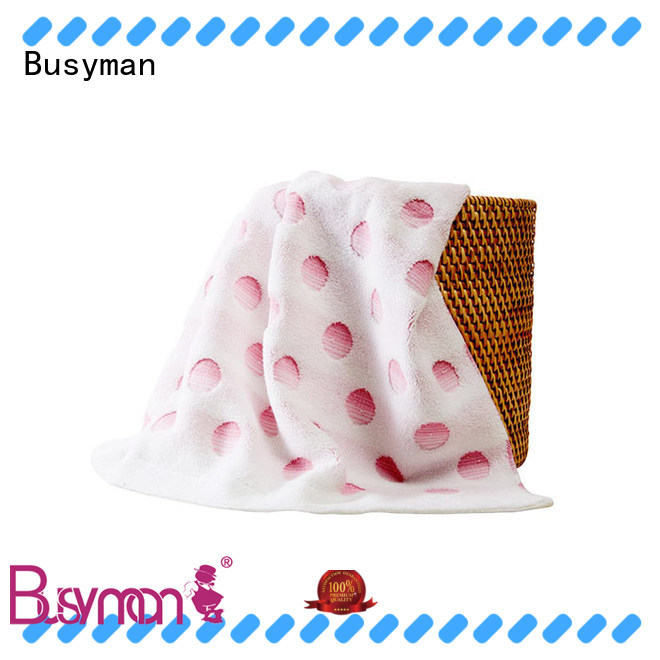 Busyman comfortable jacquard towels design ideal for home