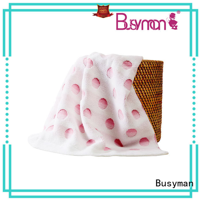 Busyman jacquard bath towel optimal for hotel