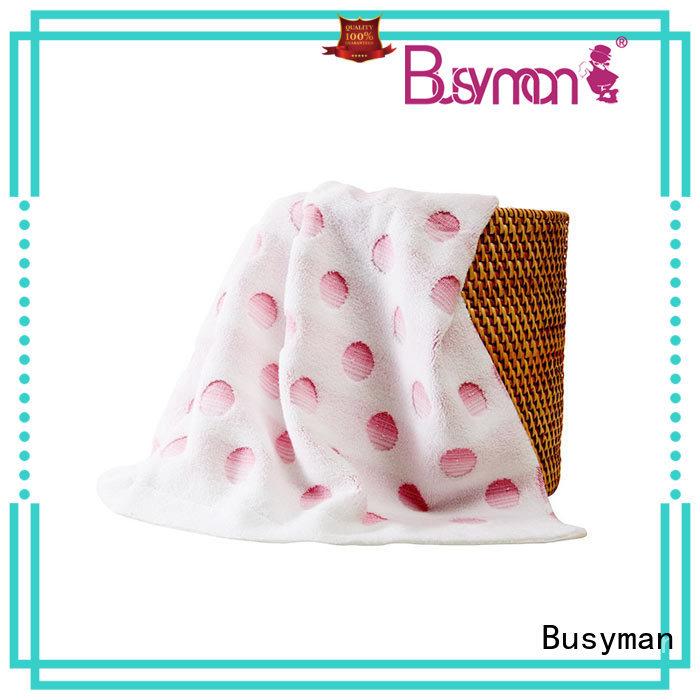 Busyman jacquard bath towel optimal for hotel