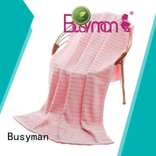 Busyman good water absorption plain beach towel ideal for gift