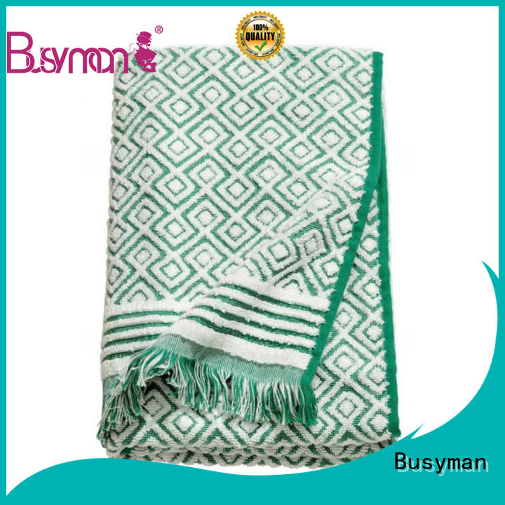 Busyman bath towels jacquard widely used for gift