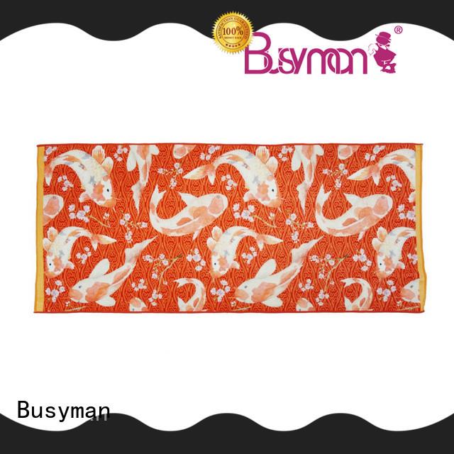 Busyman soft bath towels printed ideal for hotel