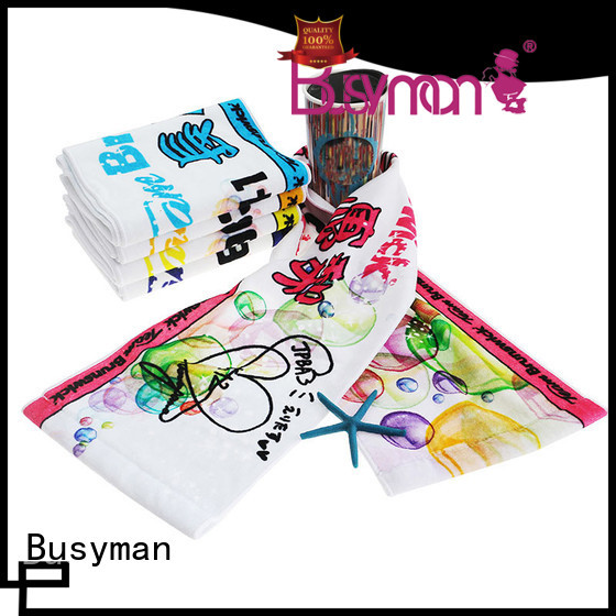 Busyman colorful cotton sports towel suitable for fans club
