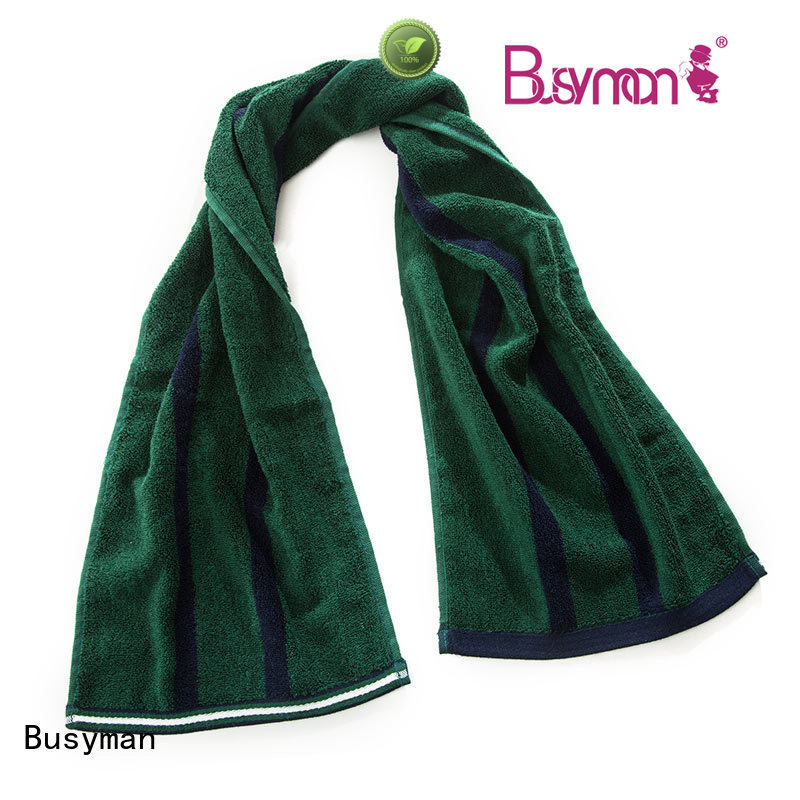 Busyman natural bamboo sports towel widely applied for advertising