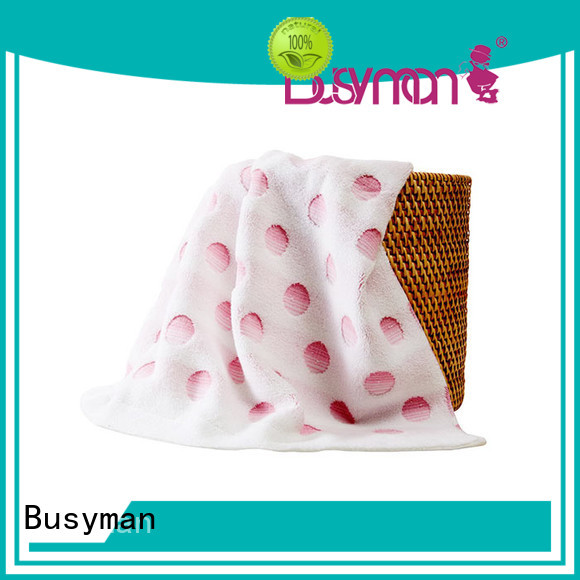 Busyman solid color jacquard personalized towels ideal for swimming