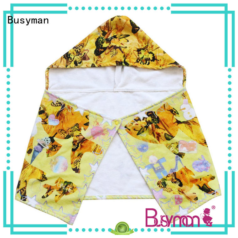 Busyman good quality custom hooded towel widely employed for kitchen