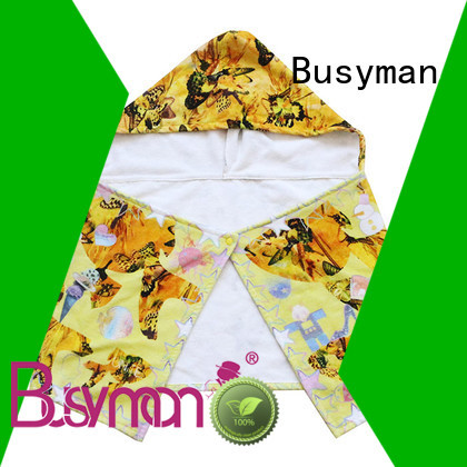 Busyman cotton hooded towel widely employed for gift