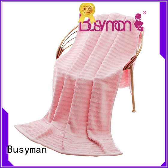 Busyman soft personalised beach towels gift