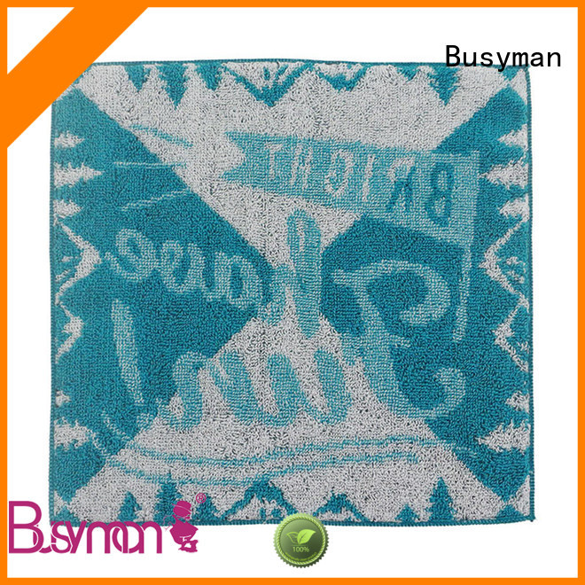 Busyman high quality fabric cotton hand towel widely employed for beauty salon