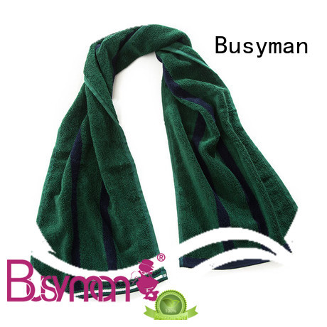 Busyman quick dry custom gym towel satisfying for sports