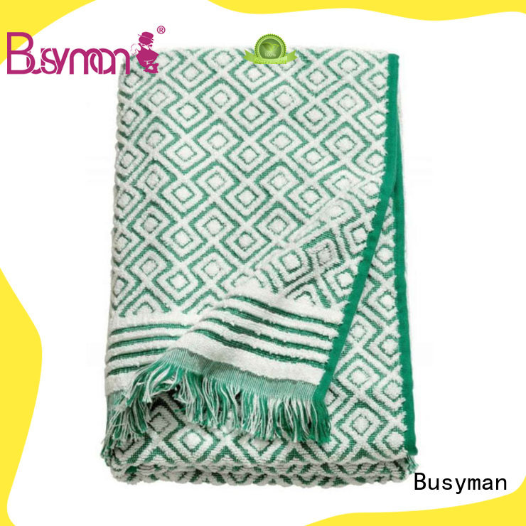 Busyman large jacquard beach towel optimal for beauty salon