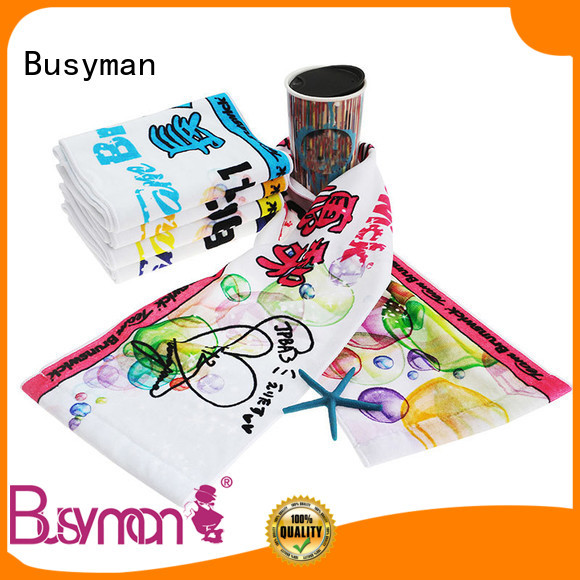 Busyman cotton sports towel optimal for camping