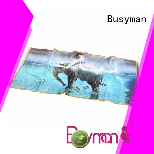 Busyman custom printed towels great for hotel
