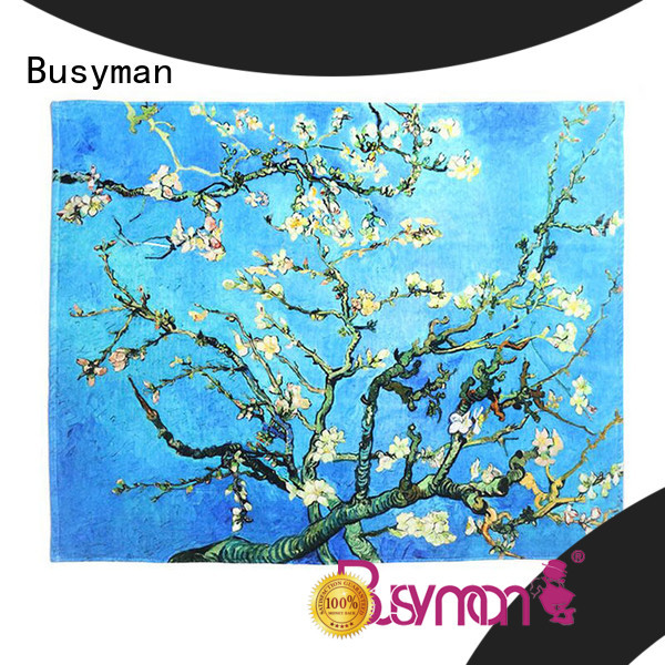 Busyman soft custom hand towel perfect for sports