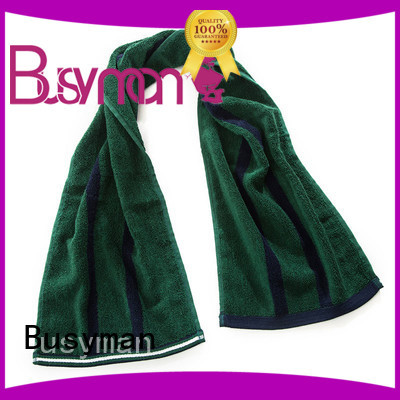 Busyman natural custom gym towel widely applied for campaign