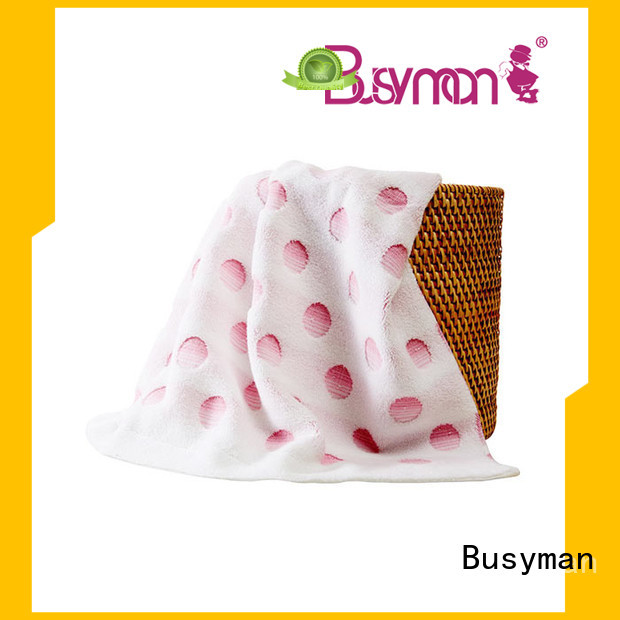 Busyman solid color jacquard jacquard towels satisfying for