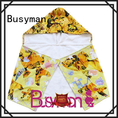 Busyman comfortable cotton hooded towel very useful for