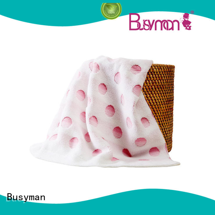 Busyman solid color jacquard personalized towels gift