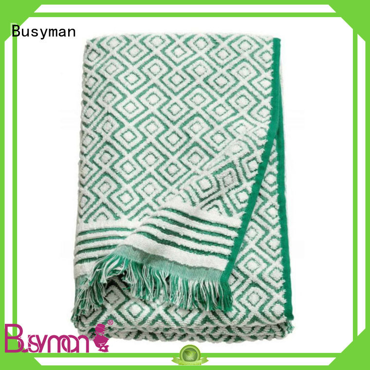 Busyman quick dry jacquard beach towel satisfying for beauty salon