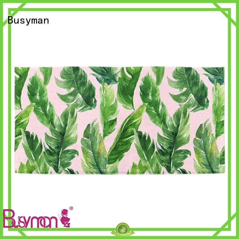 Busyman microfiber beach towel wholesale suitable for gym