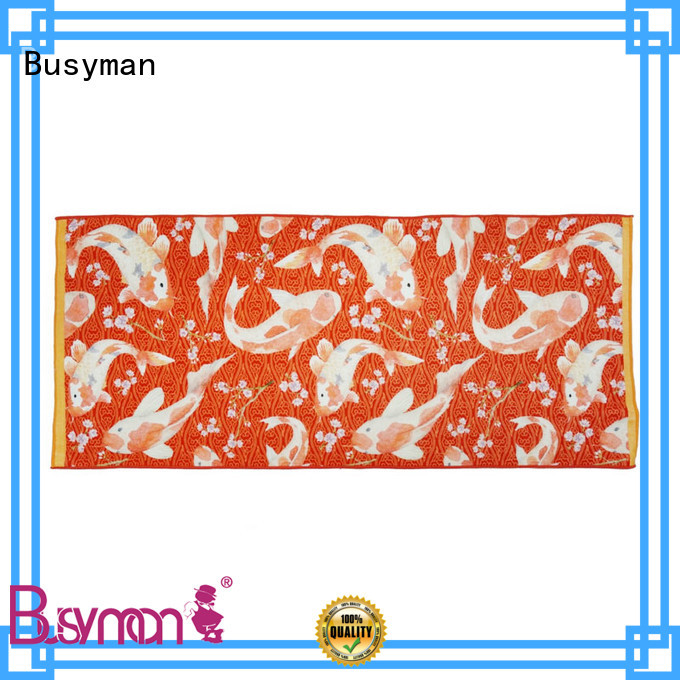 Busyman reactive printing custom bath towel kids use