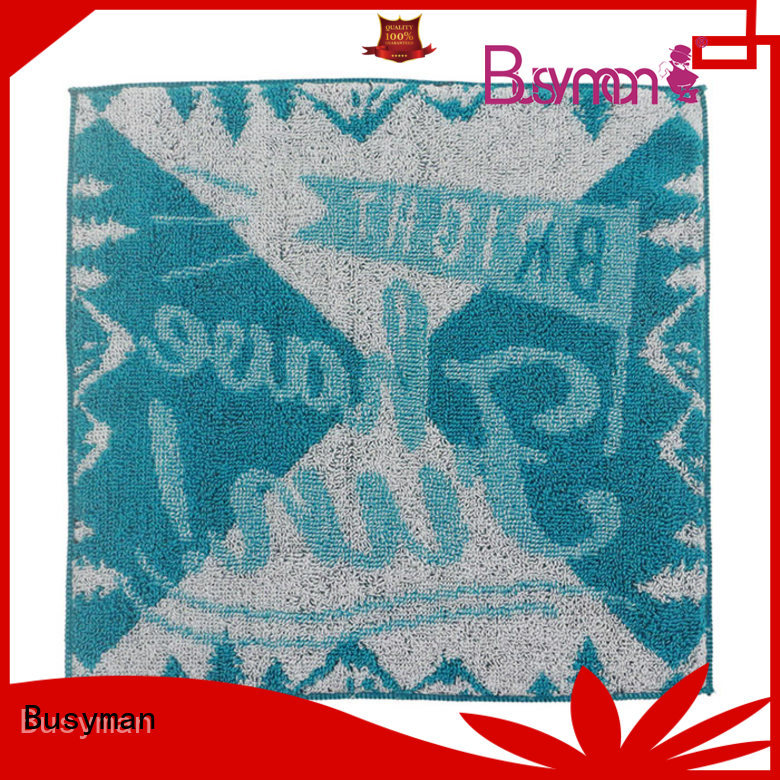 Busyman strong water absorbing capacity jacquard towels needed for