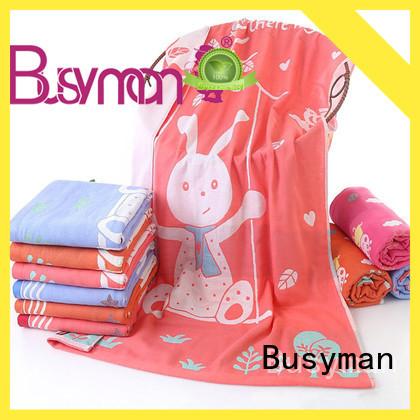 Busyman multi color jacquard bath towel 100% cotton optimal for hotel