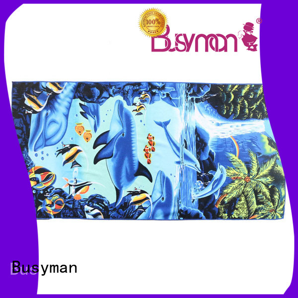 Busyman customized microfiber towel best for outdoor activities