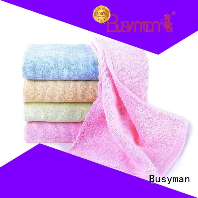 Busyman bright color wholesale hand towel widely used for sports