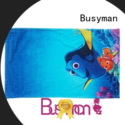 Busyman custom printed hand towels hotel