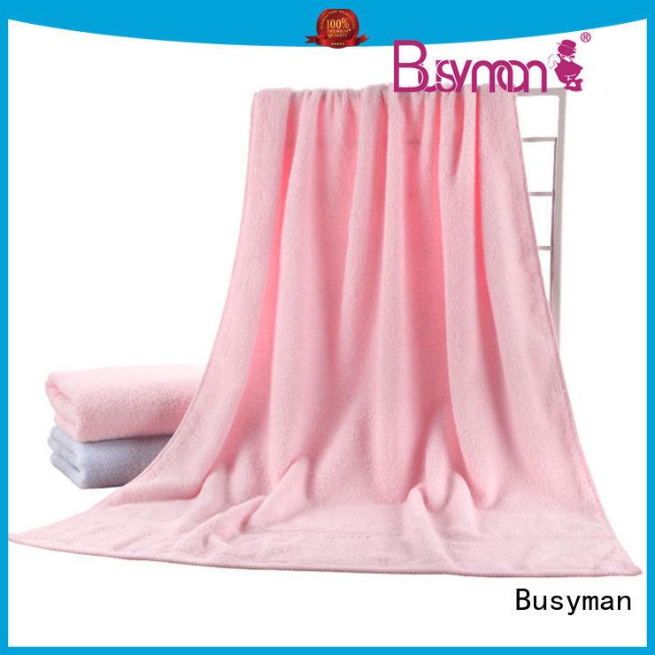 Busyman soft hand feeling bath towel 100% cotton needed for shower room