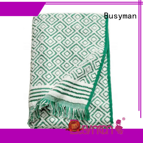 Busyman bath towels jacquard beauty salon