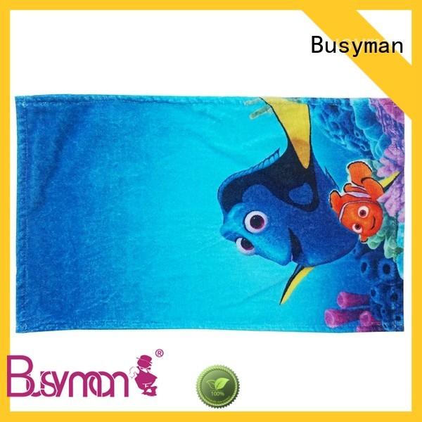 Busyman custom printed hand towels kids use