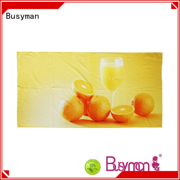 Busyman comfortable beach towels with logo needed for