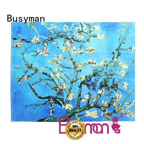 Busyman custom printed hand towels great for