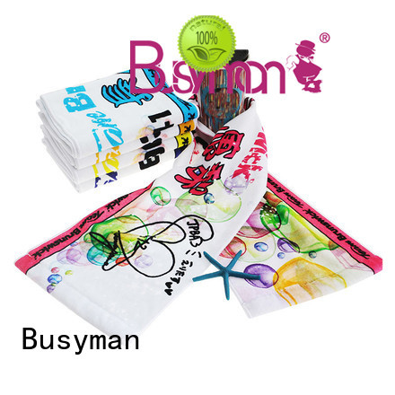 Busyman comfortable custom sport towel ideal for camping