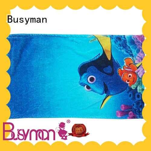 Busyman hand towel printing perfect for