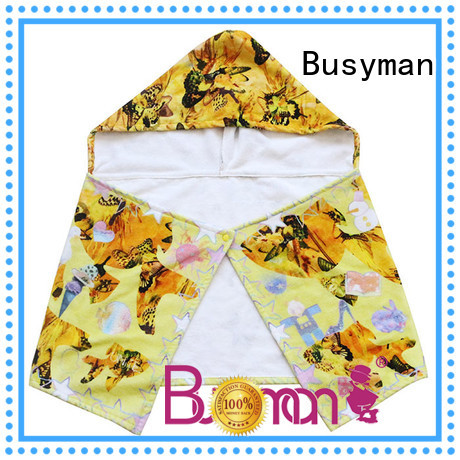 Busyman Eco-friendly cotton hooded towel widely employed for kids