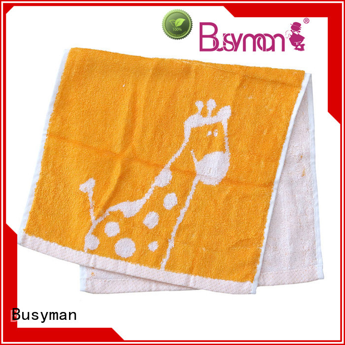 Busyman strong water absorbing capacity jacquard hand towel very useful for gift