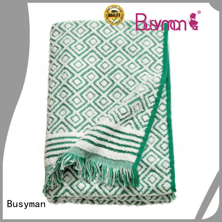 Busyman jacquard towels satisfying for
