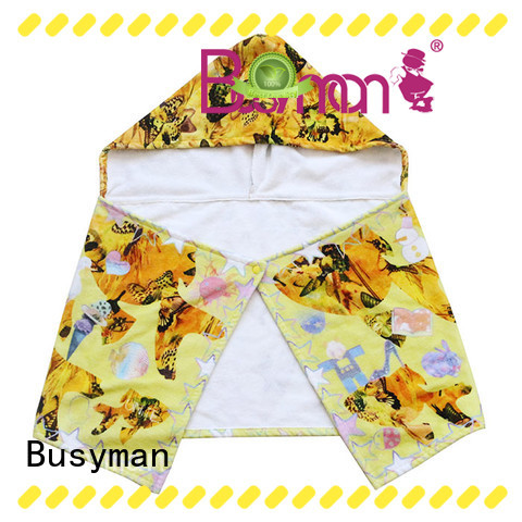 Busyman Eco-friendly cotton hooded towel very useful for