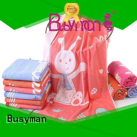 Busyman multi color jacquard bath towel 100% cotton great for gift